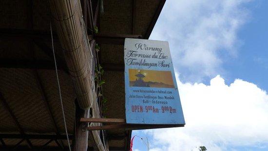 Terrasse du Lac Tamblingan Sari: Bali Munduk lac tambligan le restaurant