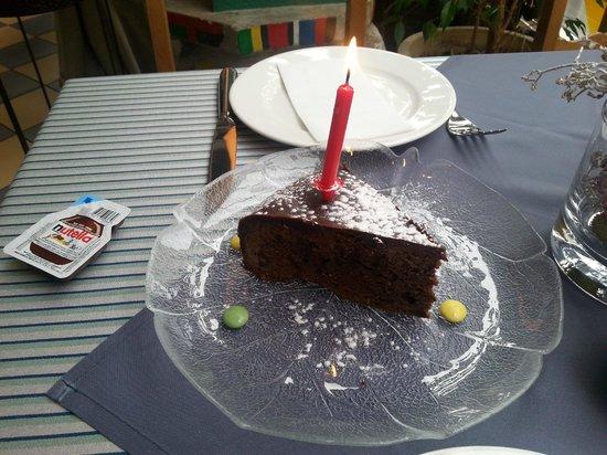 Hotel Rebstock: Birthday Sacher Cake- very tasty