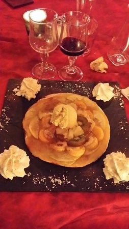 La Strada Saint Brieuc : Une pizza aux fruits en dessert ! Surprenante et délicieuse !