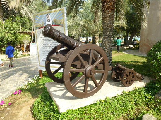 Heritage Village: Old canon on display
