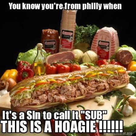 Gentile Bros Authentic Cheesesteaks : ITS CALLED A HOAGIE...