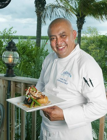 Flippers on the Bay: Chef Juan with the NEW Snapper dish, you gotta try this!