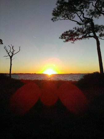 Saint George Island State Park: Sunset from our campsite 2014 January.