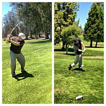 Blacklake Golf Resort: Working on our swing