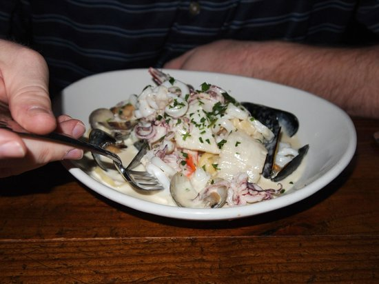 Carmella's: Linguine -clams, mussels, fish -