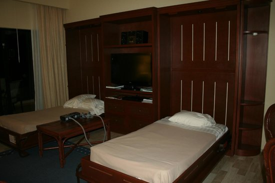 The Royal Caribbean: Murphy beds lift down with an easy pull