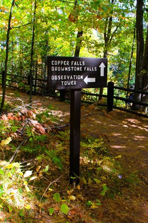Copper Falls State Park: Sign - We are here