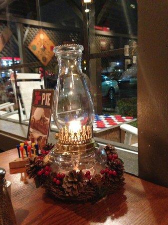 Cracker Barrel Old Country Store: Decoração das mesas