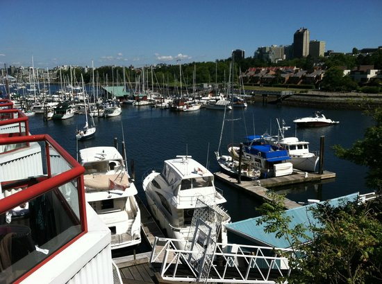 "Granville Island Hotel: View of False Creek from our ""porch"""