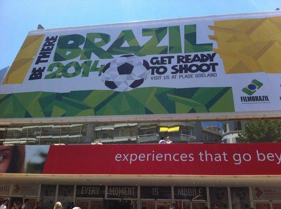Palais des Festivals et des Congres of Cannes: Brazil 2014 billboard