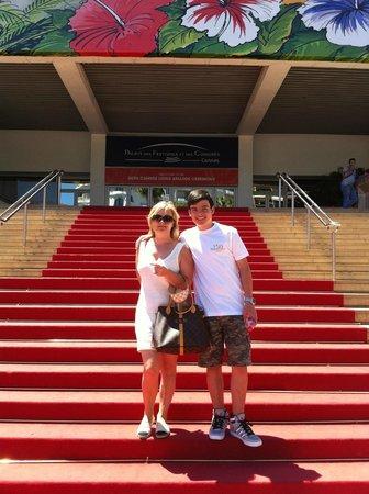 Palais des Festivals et des Congres of Cannes: red carpet