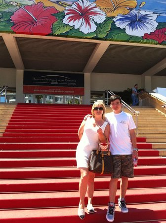 Palais des Festivals et des Congres of Cannes: my son and I