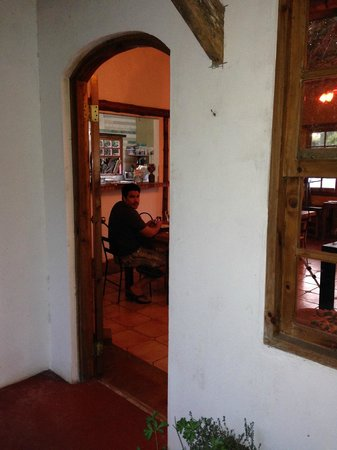 Cerro Brujo: Our table in front of the kitchen