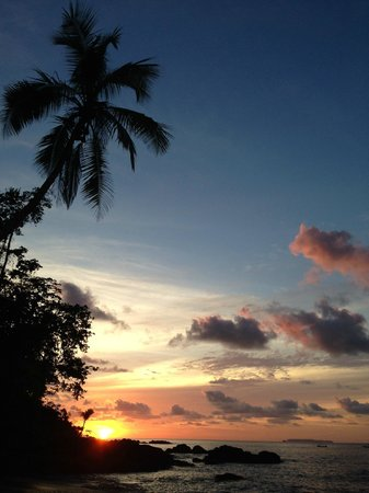 Copa de Arbol Beach and Rainforest Resort: Sunset at the west-facing hotel beach