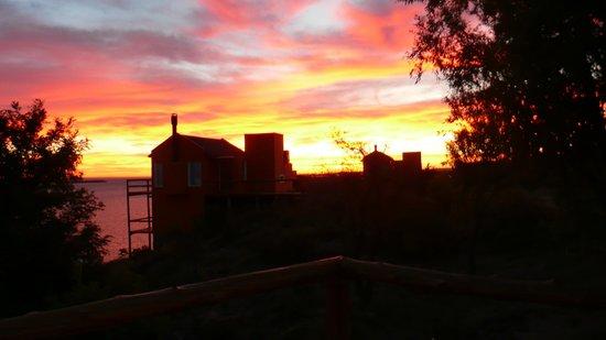 Cabañas Los Acantilados: Vista desde el deck de una cabaña