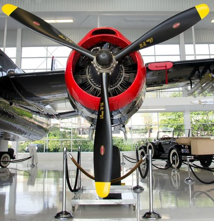 Lyon Air Museum: Colorful Engine