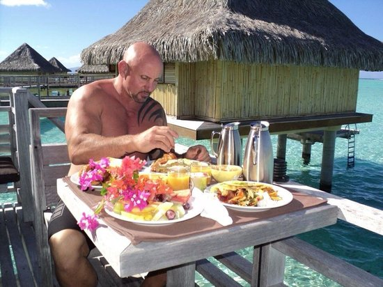 Canoe Room Service To Our Overwater Bungalows In Bora Bora