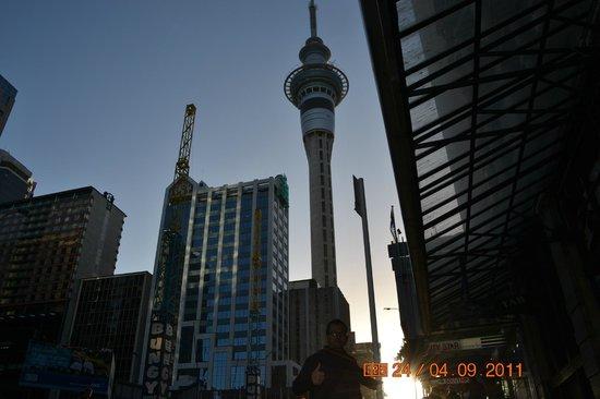 Sky Tower (Torre del cielo): llegando