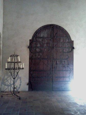 The Met Cloisters: A beautiful door and candelabra