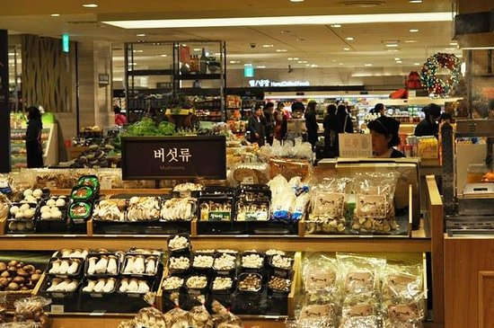 Food Court at Lotte Department Store Main: The organic section of the market next to the food court JenCooksKorean