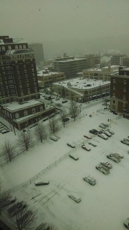 Hotel Indigo Asheville Downtown: View from our queen double suite on the penthouse level