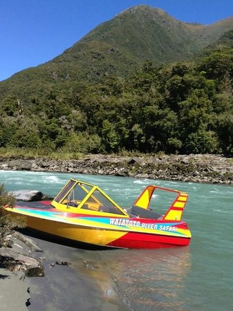 Waiatoto River Safari: Waitoto River Safari jetboat