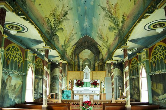 The Painted Church: Inside view of the church
