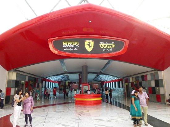 Ferrari World Abu Dhabi: Main entrance