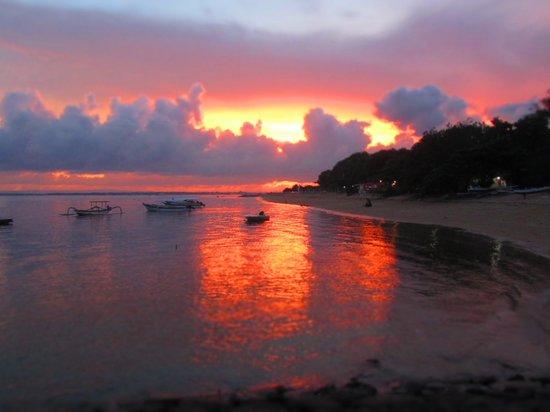 Beautiful sunsets Sanur Beach