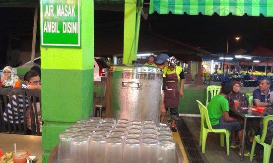 Ana Ikan Bakar Petai : free plain drink