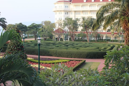 Hong Kong Disneyland Hotel : View from room overlooking the hedge/maze