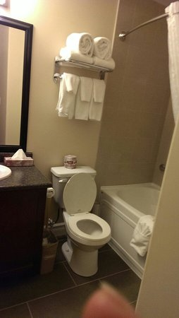 Kindersley Inn: Bathroom. Suite in new building