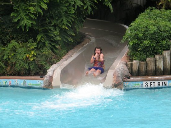 Disney's Port Orleans Resort - French Quarter: Fun fast slide but not scary for kids