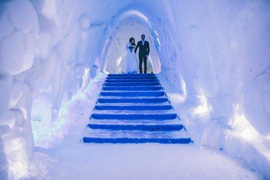 Wedding at snow chapel LEVI - Picture of Luvattumaa - Levi ...