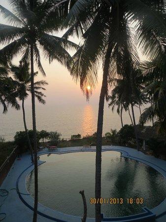Oceano Cliff : Заход солнца, вид с балкона