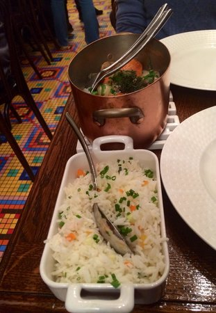 Les Papilles : Veal pot with rice, well match