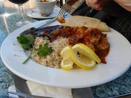 Mendocino Cafe : Prawn dish