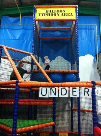 The Play Factory: trampoline up in the air