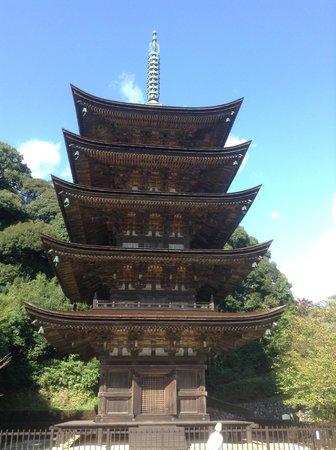 Ruriko Temple Five-Story Pagoda : Pagoda upfront