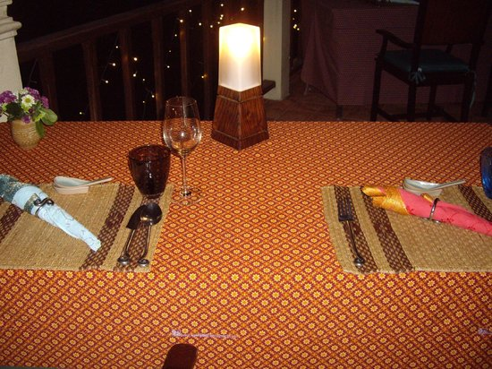 Chakrabongse Villas: Private Dinner