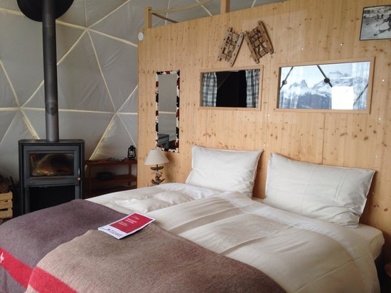 Whitepod Eco-Luxury Hotel : Chambre.