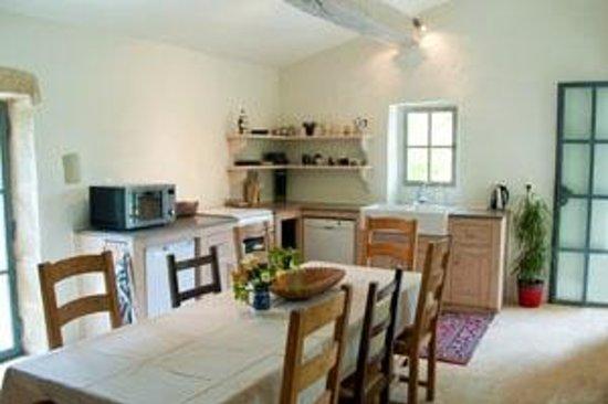 Moulin de Pattus: First floor gite kitchen dining