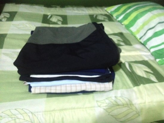 Bothy Puno: My 2kg of dirty washing ......washed & ironed  for 7 Soles ...bargain....Bothy Backpackers Hoste