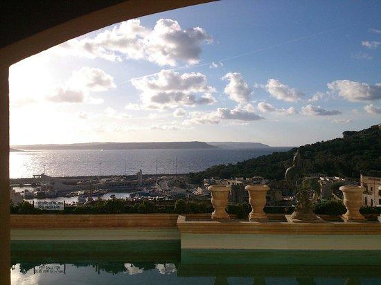 Grand Hotel Gozo: Vue de la chambre 456 au matin