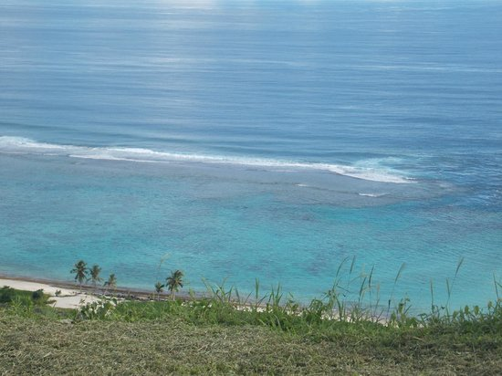 Taufua Beach Fales: View from outside my hilltop unit