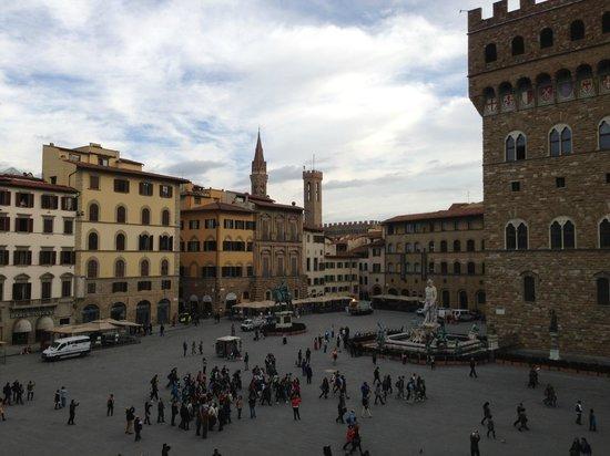 Relais Uffizi: photo prise depuis la fenetre du salon de l'hotel