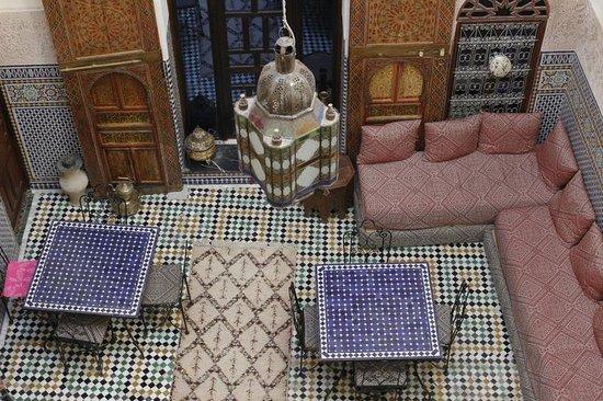 Riad Fes Aicha : Inner courtyard