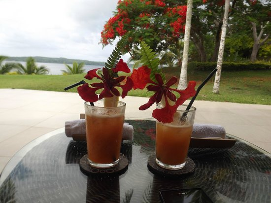 The Havannah, Vanuatu: Arrival drink