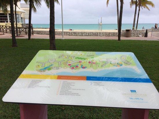 Grand Lucayan, Bahamas : Map of area