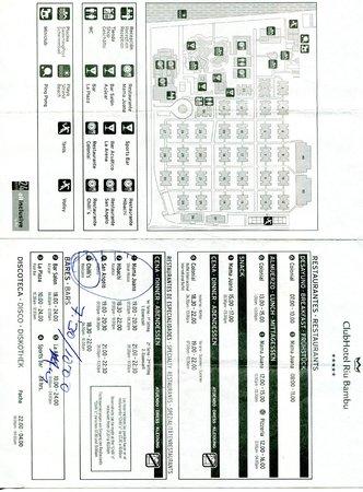 ClubHotel Riu Bambu: Plan du Riu Bambu